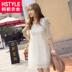 韩都衣舍甜美2014夏装新款女装显瘦五分袖蕾丝连衣裙AA1099玎