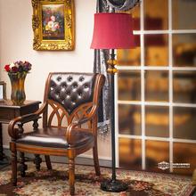 芮诗凯诗 明卡科思 欧式古典居家黄色琉璃树脂落地灯 美式地灯