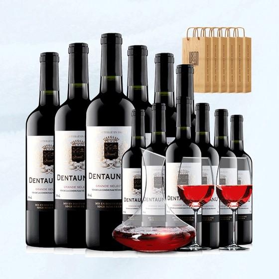 【雍天酒類專營店】     買1箱送1箱 14度法國原裝紅酒(每個ID限購20件)