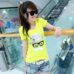 包邮72变时尚屋[SE2910]夏季女装新款2014修身百搭短袖T恤女韩版