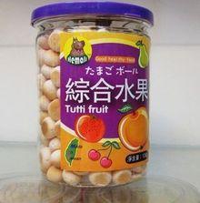 台湾河马莉Hemali混合水果蛋酥饼干 布丁婴儿小馒头130g dan