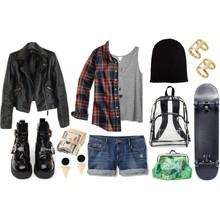<p>每日着装,滑板女孩