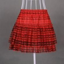 专柜正品 限量女装配件 夏款红色纱织半身裙 短裙 打底 无吊牌