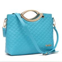 2013新款韩版女包 糖果色菱格包 手提单肩斜挎多用包 气质女包