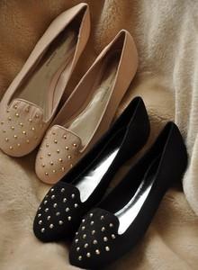 出口英国外贸欧美风DOROTHYPERKINS女鞋 平底铆钉时尚单鞋