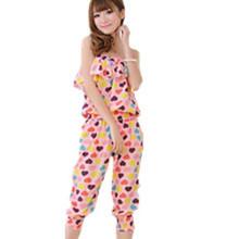 2013夏装新款韩版花上衣+显瘦雪纺7分裤宽松舒适女式套装四穿