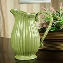 复古田园奶罐水壶陶瓷花瓶 家居装饰工艺品摆件 结婚礼品 外贸单