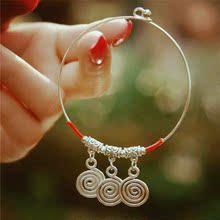 「 三世轮回 」原创中国民族风 苗银 转运 细手环。特惠