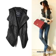 2013春季新款皮衣 女 韩版短外套 马甲修身pu皮夹克品质大码女装