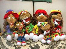 毛绒人形玩具rasta牙买加l雷鬼reggae嘻哈街舞hiphop脏辫公仔玩偶