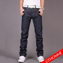 韩版牛仔裤潮流小直筒弹力学院风薄款小脚修身男装中腰牛仔长裤