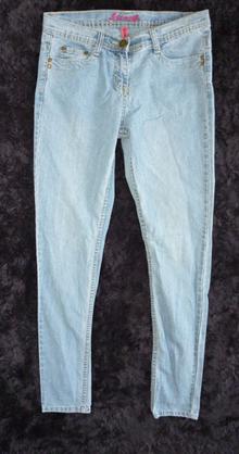复古 DENIM 天蓝色 柔软 铅笔牛仔裤 66/70/78/82/88/94
