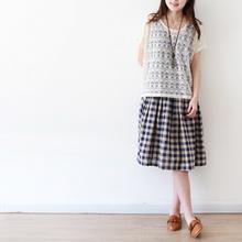 待花香。外贸原单 文艺复古 清新棉麻两件套连衣裙。