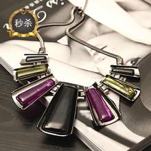 包邮欧美范锁骨链波西米亚复古时尚性感配饰假领短款项链耳环套装