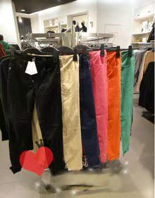 HM专柜正品牛仔彩裤H&M加长款