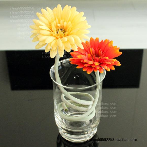 玻璃花瓶富贵竹百合玫瑰经典大号台面水晶透明摆设外贸家居饰品