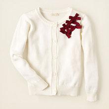 出口欧美外贸原单 官网同步 PLA*CE 女童白色毛衣开衫