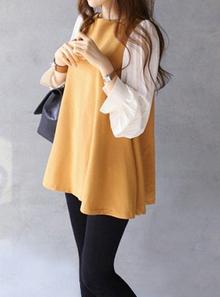新款宽松裙 夏季韩系雪纺裙长袖连衣裙 短裙春装2013韩国代购女装