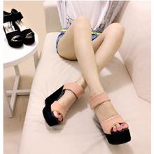 爆款 2013夏季新版韩国特殊原材料拼色金边甜美坡跟 时尚凉鞋 潮