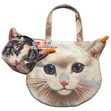 2012日本杂志款附录 muchacha ahcahcum 猫包 单肩包 女包 热卖