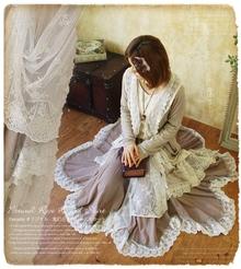 特价包邮 2013夏装新款半身裙 森系日系日单纯棉蕾丝仙女半身长裙