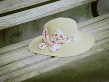 """""""去旅行吧"""" -- 纯手工。进口拉菲草 优雅森女风宽檐帽。特"""