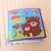 外贸响纸英文学数认识动物婴儿宝宝布书