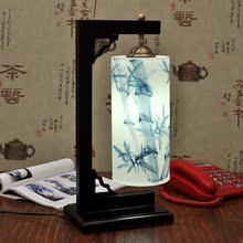 景德镇中式陶瓷灯陶瓷薄胎灯床头灯书房灯卧室灯结婚卧室床头台灯