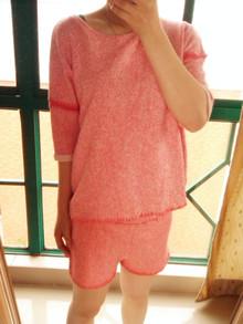 多部韩剧 潮搭 13 法国代购MAJE 小众品牌 红色手工 套装