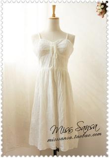 CH2-8100 外贸原单 81期 2013夏季新款纯色吊带女装连衣裙 0.2kg