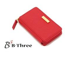 时尚精致中国红十字纹小巧定型零钱包 小卡包 70g