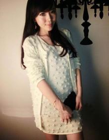 黑白色小香风名媛手工订珍珠针织毛衣外套开衫+背心裙女两件套装