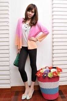 尾单特价女装春季漂亮渐变色女式薄款针织开衫女短款外套 有大码