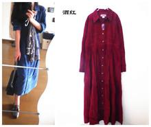 外贸原单 出口vintage复古长袍裙衬衫裙 买家秀 瑕疵款