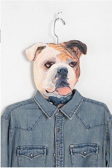 美国代购 urban outfitters Animal Clothes Hanger 动物头衣架