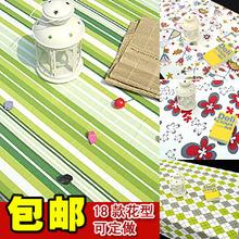 纯棉麻布艺餐桌布台布茶几布餐布桌旗餐椅套帆布条纹特价定做定制