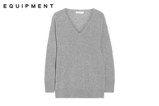 美国正品  Equipment 可儿同款 V领 100%羊绒衫毛衣