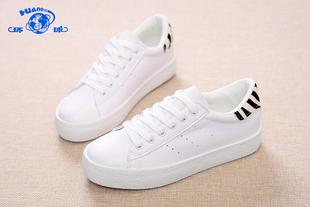 【环球】小白鞋休闲运动低帮系带厚底鞋女