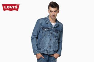 秋冬季男士纯棉蓝色水洗牛仔机车夹克外套72334-0139