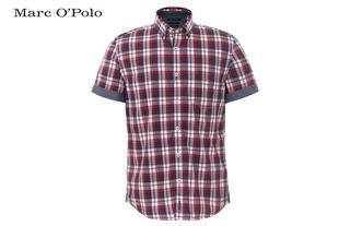 Marc O'Polo全棉格仔短袖衬衫