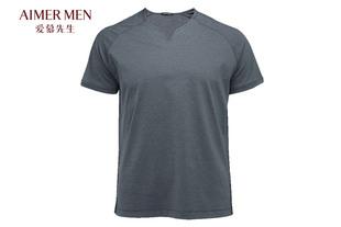 爱慕先生爱慕先生舒服休闲V领短袖上衣T恤