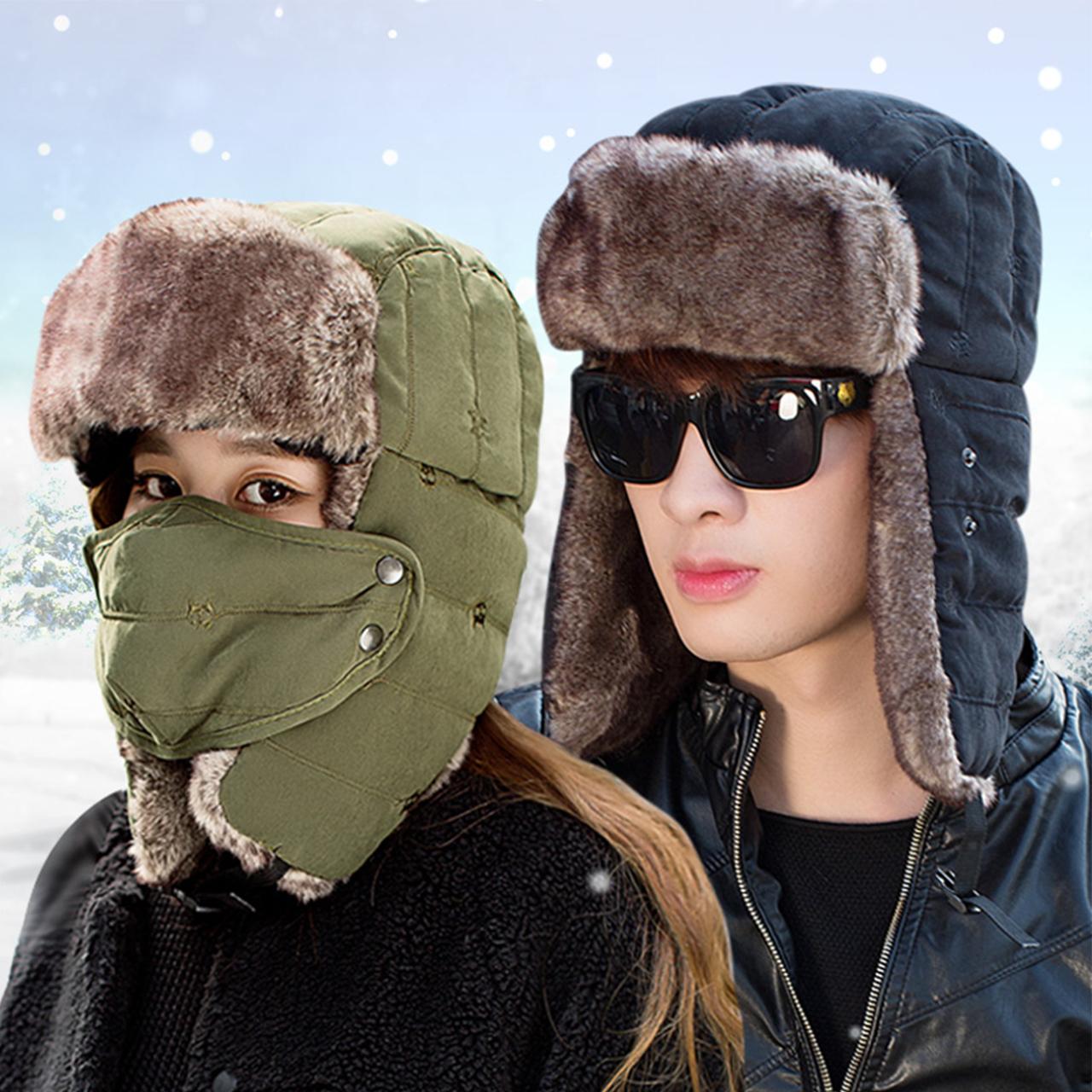 雷锋帽男帽子女冬季韩版东北防寒帽冬天骑车护耳加厚防风保暖棉帽