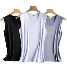 Seamless vest men's modal cotton thin wide shoulder tight ice silk sleeveless T-shirt fitness