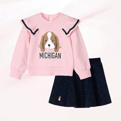 Hush Puppies Children's Clothing Girls' Set 2020 Autumn New Clothing