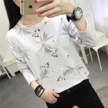 2020 new spring and autumn Korean version easy to wear long sleeve T-shirt girl student simple solid color