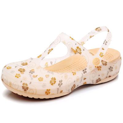 下单送精美鞋花  高品质迪特洞洞鞋女花园沙滩鞋果冻